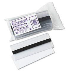 Panter Company Clear Magnetic Label Holders, Side Load, 6 x 2-1/2, Clear, 10/Pack