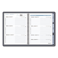 AT-A-GLANCE The Action Planner Recycled Weekly Appointment Book, 6-7/8 x 8-3/4, Black, 2013