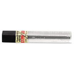 Pentel Super Hi-Polymer Lead Refills, .5mm, H, Black, 12 Leads/Tube