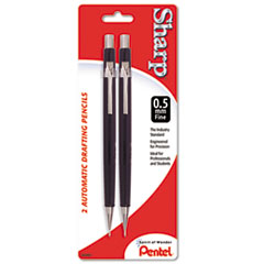Pentel Sharp Automatic Pencil, 0.5 mm, 2/Pack