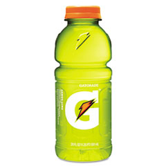 Gatorade Sports Drink, Lemon-Lime, 20oz Bottle, 24/Carton