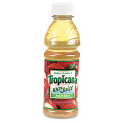 Tropicana 100% Juice, Apple, 10 oz Plastic Bottle, 24/Carton