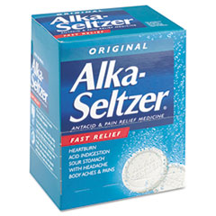 Alka-Seltzer Antacid and Pain Relief Medicine, Two-Pack, 50 Packs/Box