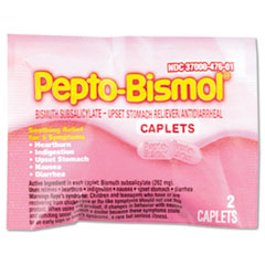 Pepto-Bismol Caplets, 25 Two-Packs/Box