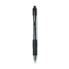 Pilot G2 Gel Ink Pen, Retractable, Refillable, Black Ink, 0.7mm Fine, Dozen