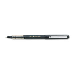 Pilot VBall Roller Ball Stick Pen, Liquid Ink, Black Ink, Fine Point, Dozen