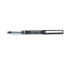 Pilot Precise V5 Roller Ball Stick Pen, Needle Pt, Black Ink, 0.5mm Extra Fine, Dozen