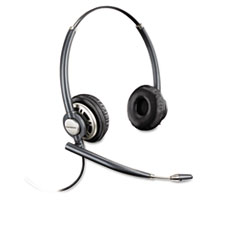 Plantronics EncorePro Binaural Over-the-Head Headset w/Noise Canceling Microphone