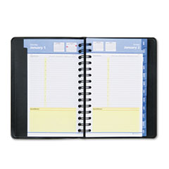 AT-A-GLANCE QuickNotes Recycled Daily/Monthly Appointment Book, Black, 4 7/8