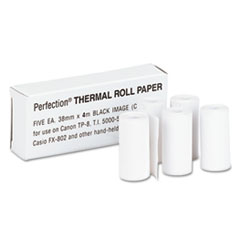 "Thermal Calculator Rolls, 1-1/2"" x 14 ft, White, 5/Pack"