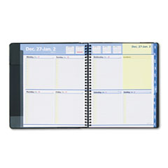 AT-A-GLANCE QuickNotes Recycled Weekly/Monthly Appointment Book, 8 x 9-7/8, Black, 2013