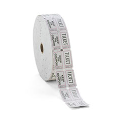 PM Company Consecutively Numbered Double Ticket Roll, White, 2000 Tickets/Roll