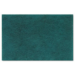 Premiere Pads Medium Duty Scour Pad, Green, 6 x 9, 20/Carton