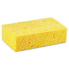 Premiere Pads Large Cellulose Sponge, 4 3/10 x 7 4/5, Yellow, 24/Carton