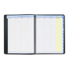 AT-A-GLANCE QuickNotes Recycled Weekly/Monthly Appointment Book, Black, 8 1/4 x 10 7/8, 2014