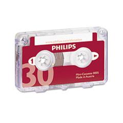 Philips Audio & Dictation Mini Cassette, 30 Minutes (15 x 2), 10/Pack