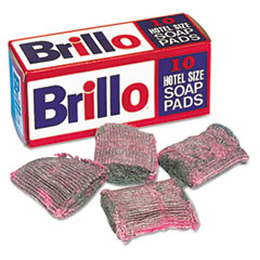 Brillo Steel Wool Soap Pad, 10/Box