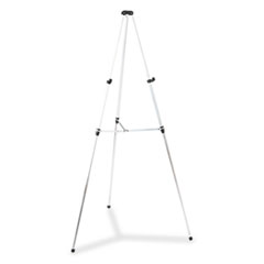 "Lightweight Telescoping Tripod Easel, 38"" to 66"" High, Aluminum, Silver"