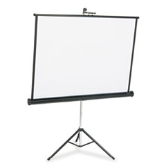 Quartet Portable Tripod Projection Screen, 50 x 50, White Matte, Black Steel Case