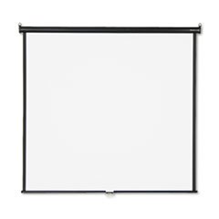 Quartet Wall or Ceiling Projection Screen, 70 x 70, White Matte, Black Matte Casing