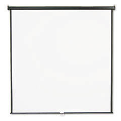 Quartet Wall or Ceiling Projection Screen, 84 x 84, White Matte, Black Matte Casing