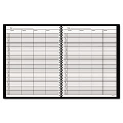 AT-A-GLANCE Recycled Four-Person Group Undated Daily Appointment Book, 8-1/2 x 11, Black