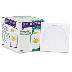 Quality Park CD/DVD Sleeves, 250/Box