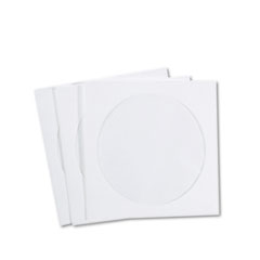 Quality Park CD/DVD Sleeves, Tyvek, 100/Box
