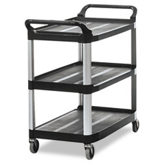 RCP 409100BLA Rubbermaid Commercial Open Sided Utility Cart RCP409100BLA