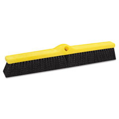 Rubbermaid Commercial Medium Floor Sweeper, 24 x 3, Black