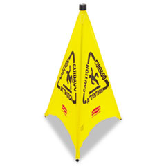 Rubbermaid Commercial Three-Sided Caution, Wet Floor Safety Cone, 21w x 21d x 30h, Yellow