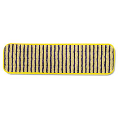 Rubbermaid Commercial Microfiber Scrubber Pad, Vertical Polyprolene Stripes, 18