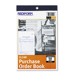 Rediform Purchase Order Book, Bottom Punch, 5 1/2 x 7 7/8, Two-Part Carbonless, 50 Forms