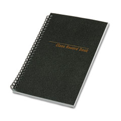 National Class Record Book, 6-Day/6-Week Format, 9-1/2 x 5-3/4, Black, 120 Pages