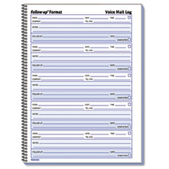 Voice Mail Wirebound Log Books, 8 x 10 5/8, 500 Sets/Book