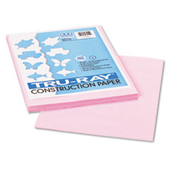 Pacon Tru-Ray Construction Paper, 76 lbs., 9 x 12, Pink, 50 Sheets/Pack