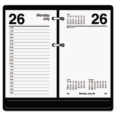 AT-A-GLANCE Desk Calendar Refill, 3 1/2 x 6, White, 2016