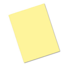Pacon Riverside Construction Paper, 76 lbs., 9 x 12, Light Yellow, 50 Sheets/Pack