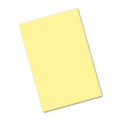 Pacon Riverside Construction Paper, 76 lbs., 12 x 18, Light Yellow, 50 Sheets/Pack