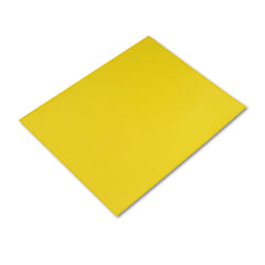 Pacon Colored Four-Ply Poster Board, 28 x 22, Lemon Yellow, 25/Carton