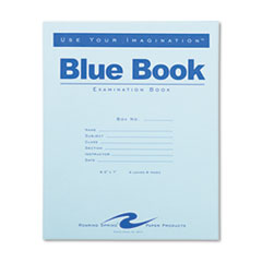 Roaring Spring® BOOK EXAM 4SHT WIDE BE EXAMINATION BLUE BOOK, WIDE-LEGAL RULE, 8.5 X 7, WHITE, 4 SHEETS