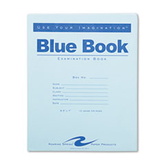 Roaring Spring® BOOK EXAM 12SHT WIDE BE EXAMINATION BLUE BOOK, WIDE-LEGAL RULE, 8.5 X 7, WHITE, 12 SHEETS