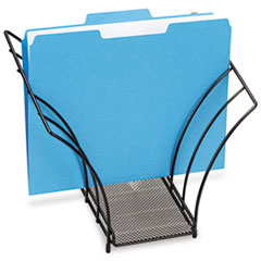 Rolodex Butterfly File Sorter, Five Sections, Mesh, 12 1/4 x 7 3/4 x 10 1/8, Black