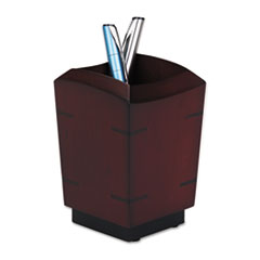 Rolodex Executive Woodline II Pencil Cup, 3 1/4 x 3 1/4 x 4 5/8, Mahogany