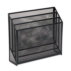 Rolodex Mesh Three-Tier Organizer, 12 3/4 x 3 1/2 x 11 1/2, Black