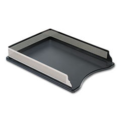 Rolodex Distinctions Self-Stacking Letter Desk Tray, Metal/Black