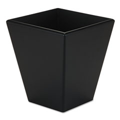 Rolodex Wood Tones Wastebasket, Trapezoidal, Wood, Black