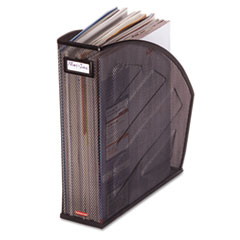 Rolodex Standard Rolled Mesh Steel Magazine File, 4 7/8 x 10 1/2 x 11 3/4, Black