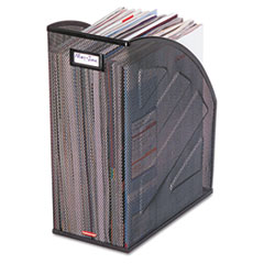Rolodex Nestable Rolled Mesh Steel Jumbo Magazine File, 5 7/8 x 10 x 12 1/2, Black