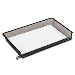 Rolodex Nestable Mesh Stacking Side Load Legal Tray, Wire, Black